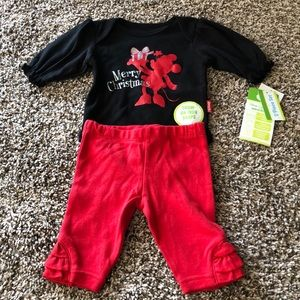 Disney's Minnie Mouse 2-piece Christmas outfit NB